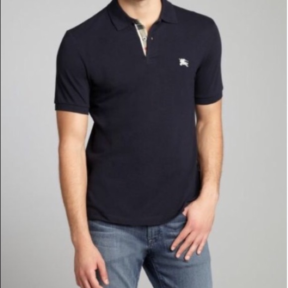 64fc14c648ff Burberry Other - BURBERRY ~ men's navy blue check polo shirt